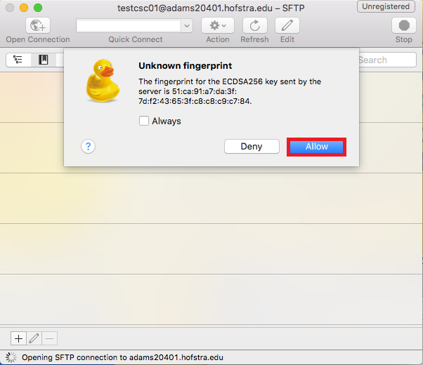 Remote file transfer on a Mac using Cyberduck | Computer Science