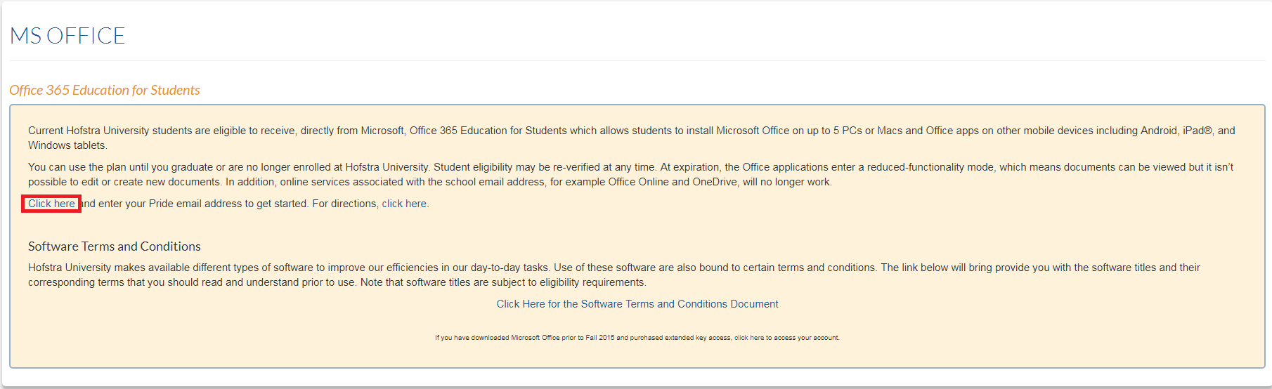 How to get Microsoft Office from the Hofstra Portal | Computer Science